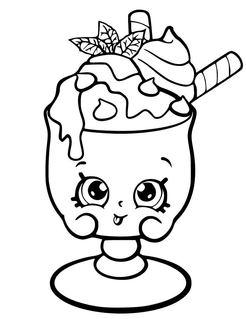 Choc Mint Charlie Shopkin Season 6 Coloring Page