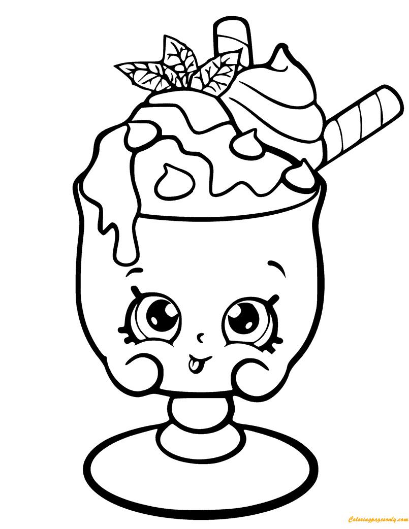 Choc Mint Charlie Shopkin Season 6 Coloring Page Free