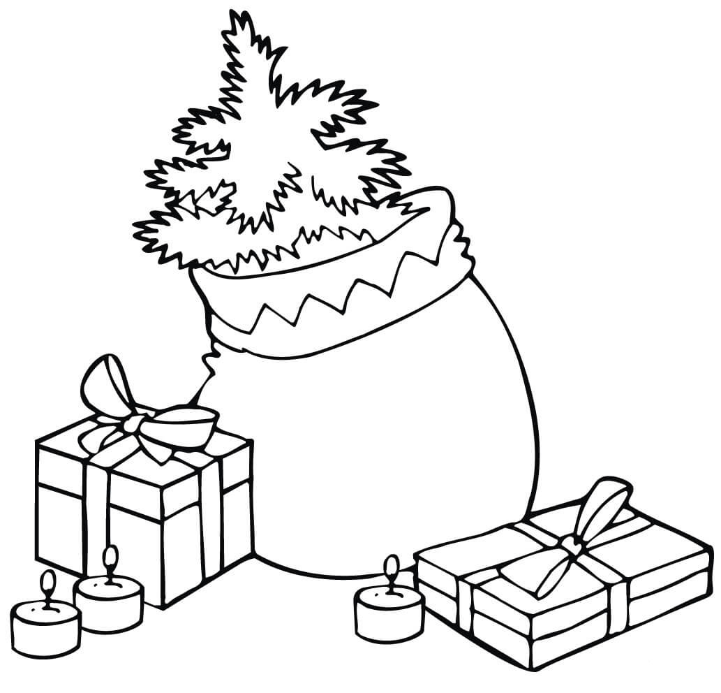 Christmas Bag Coloring Page