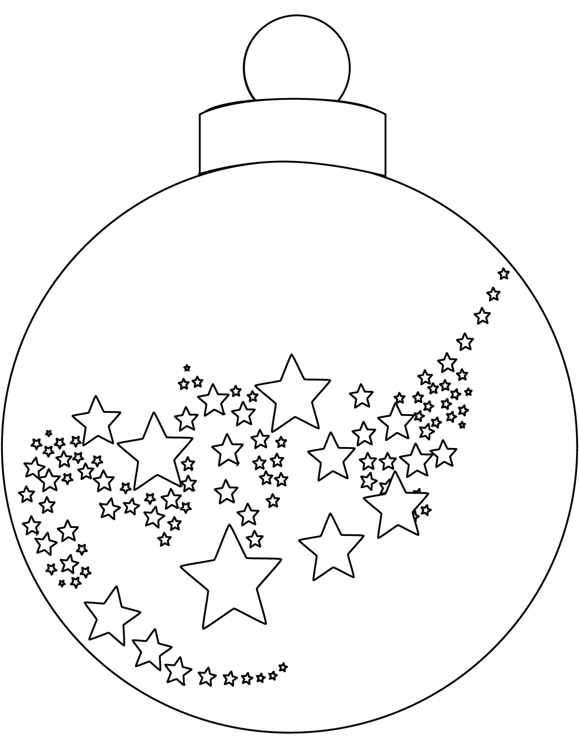 Christmas Ball Ornaments Coloring Page
