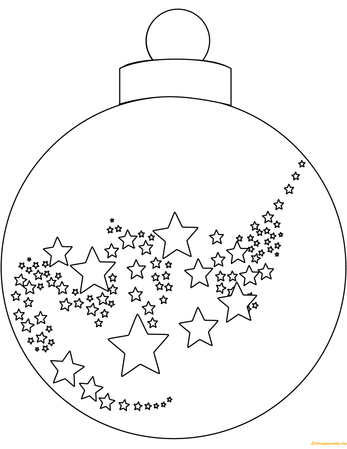Christmas Ball Ornaments Coloring Page - Free Coloring ...