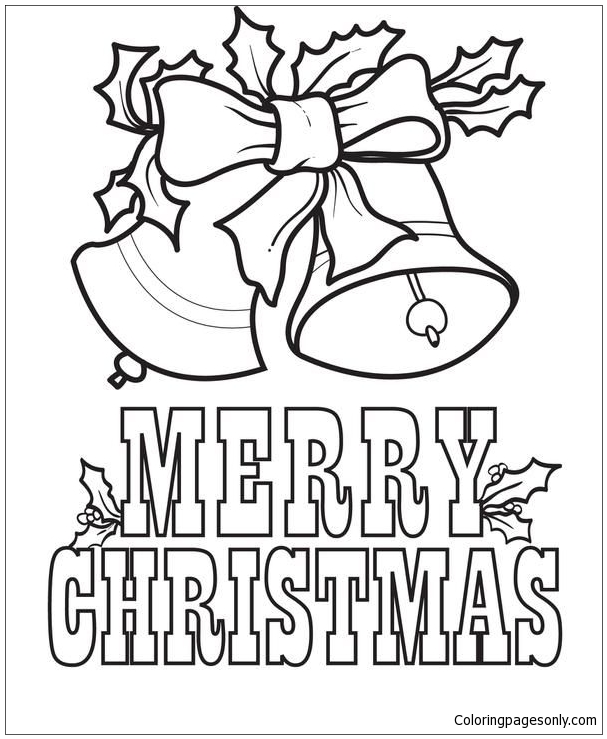 Christmas Bells 1 Coloring Page