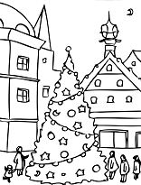 Christmas Day Coloring Page