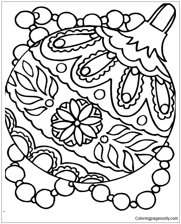 Christmas Decoration Accessories Coloring Page