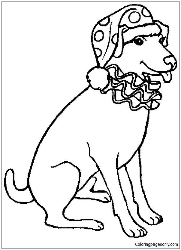 Free Christmas Coloring Pages Of A Dog, Download Free Clip Art ... | 831x603