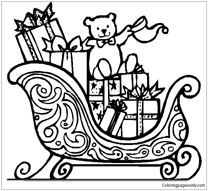 Christmas Gifts Coloring Page - Free Coloring Pages Online