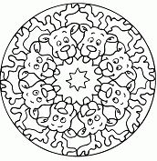 Christmas Mandala 1 Coloring Page