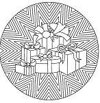 Christmas Mandala 2 Coloring Page