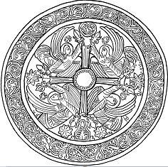 Christmas Mandala with Angels