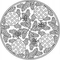 Christmas Mandala with Baubles