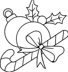 Christmas Ornaments 1 Coloring Page