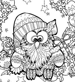 Christmas Owl Zentangle