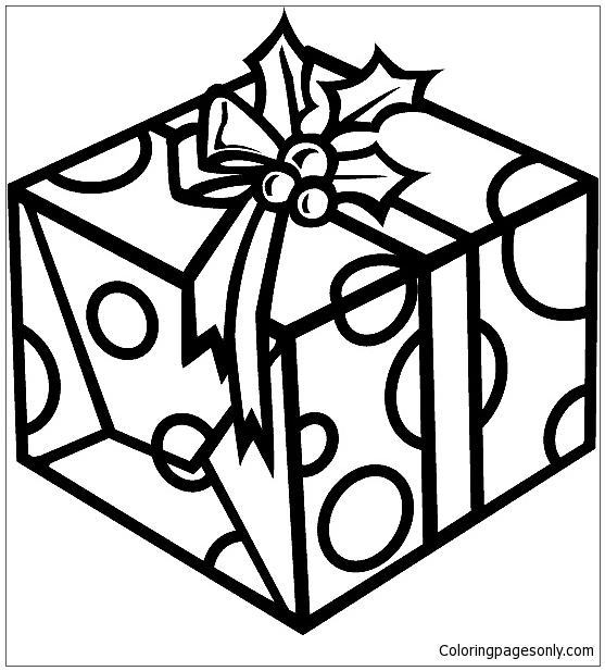 Christmas Present Coloring Page - Free Coloring Pages Online