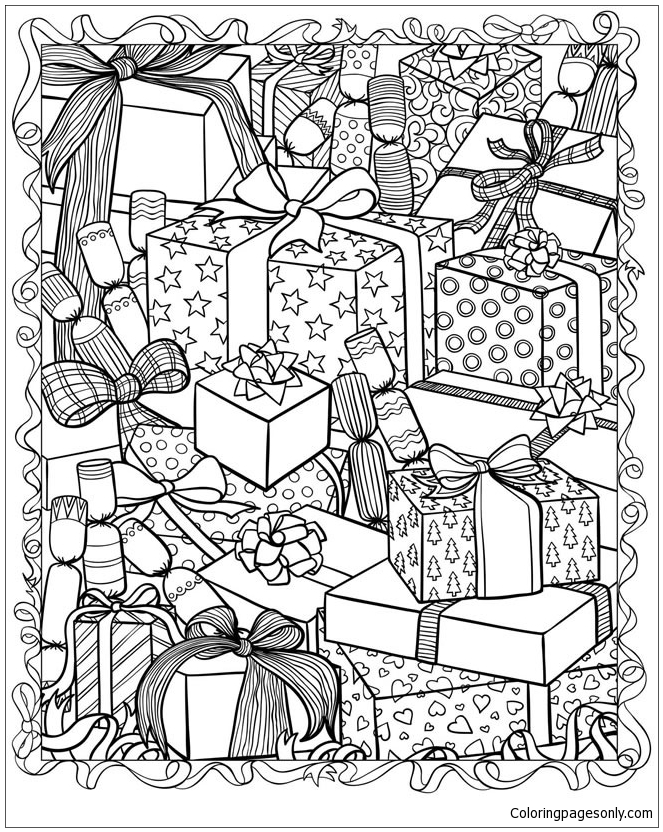 christmas presents coloring page - Christmas Presents Coloring Pages