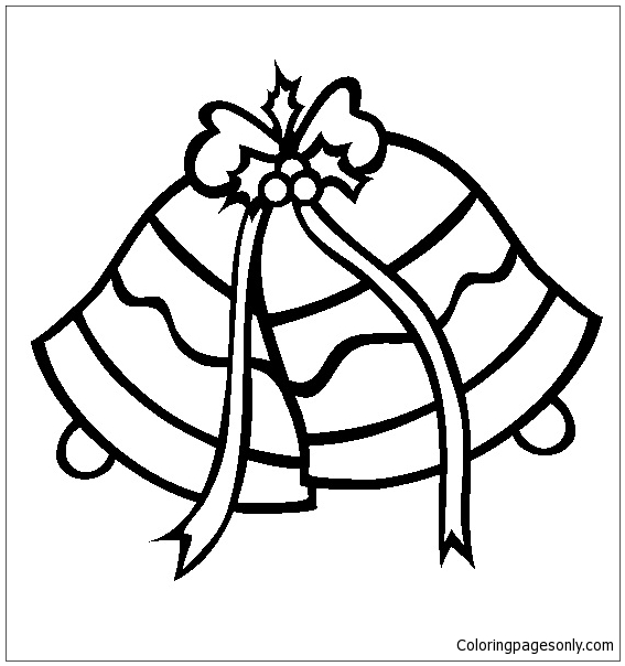 Christmas Bells Coloring Pages | 604x567