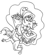 Christmas Sprite Coloring Page