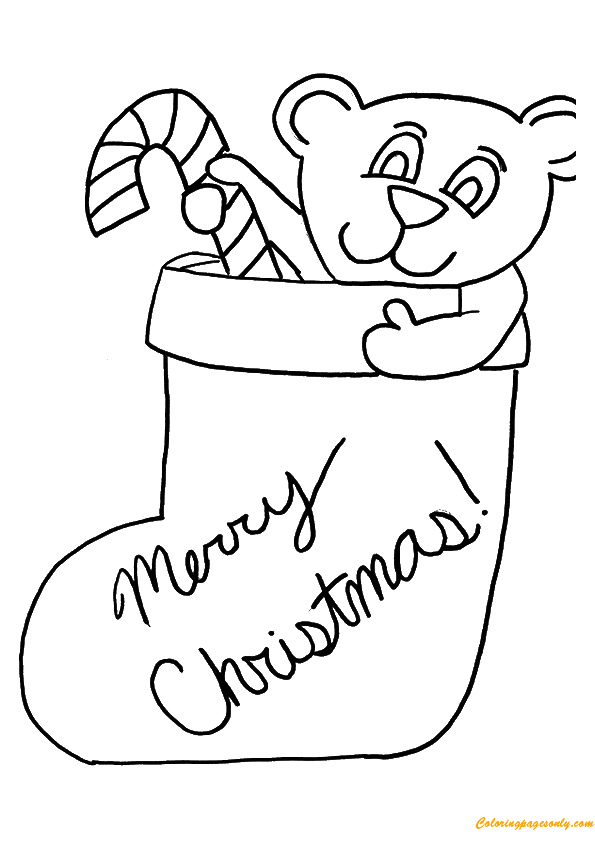 Christmas Stocking Coloring Page Free Coloring Pages Online