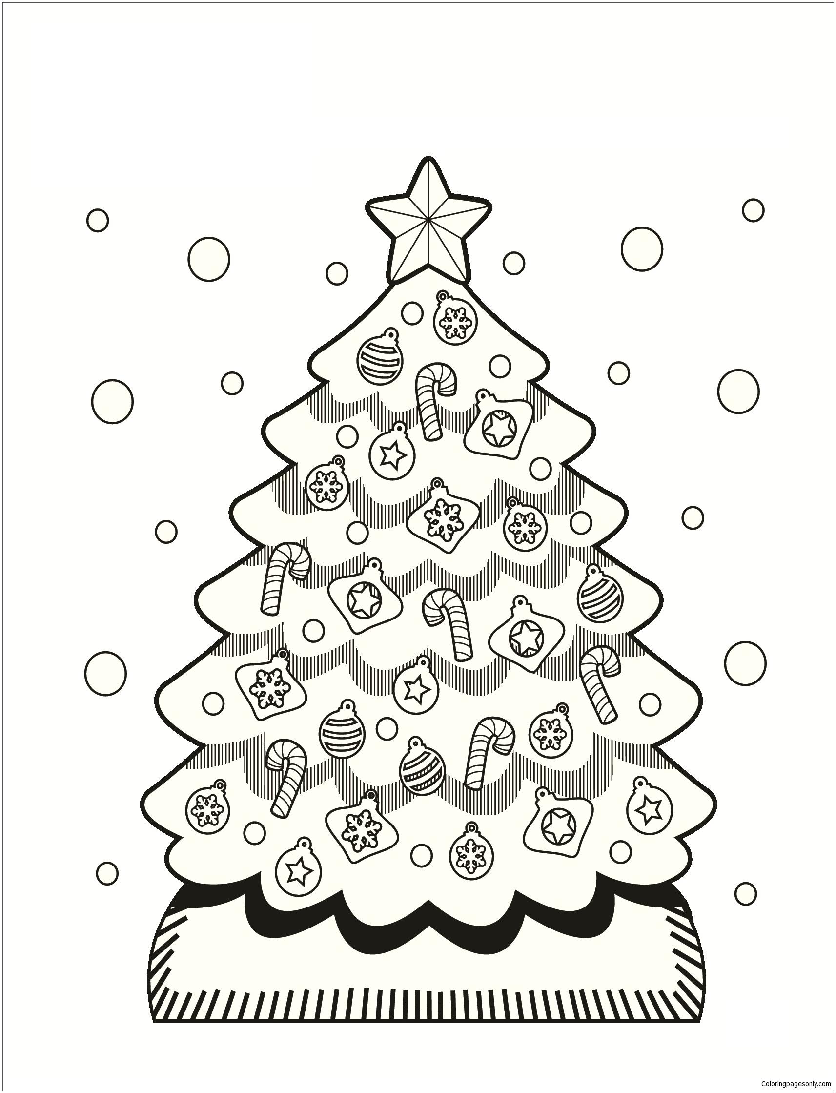 Christmas Tree 1 Coloring Page