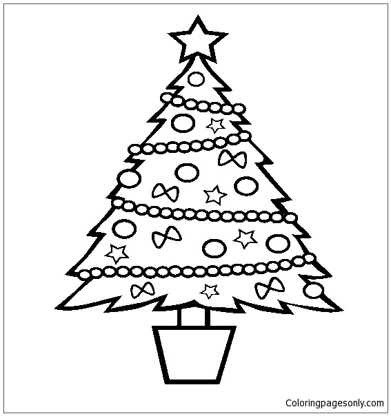 full screen download print picture - Coloring Pictures Of Christmas Trees 2
