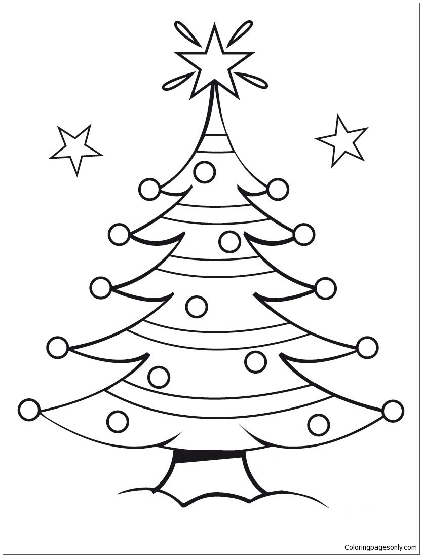 Christmas Tree 4 Coloring Page