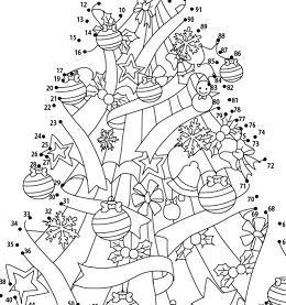 Christmas Tree 5 Coloring Page