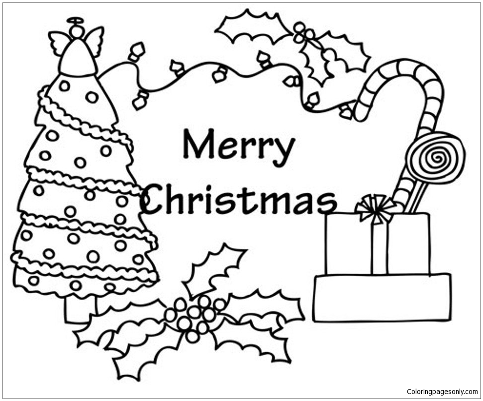Little Christmas Tree With Presents Coloring Pages Little