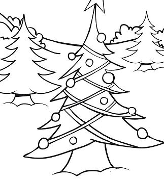 Christmas Tree Lights Coloring Page