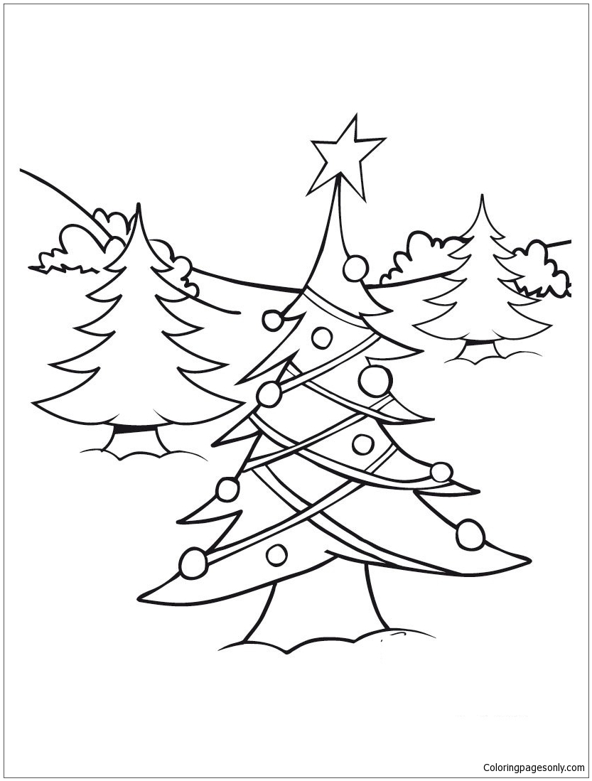 christmas tree lights coloring pages eliolera com