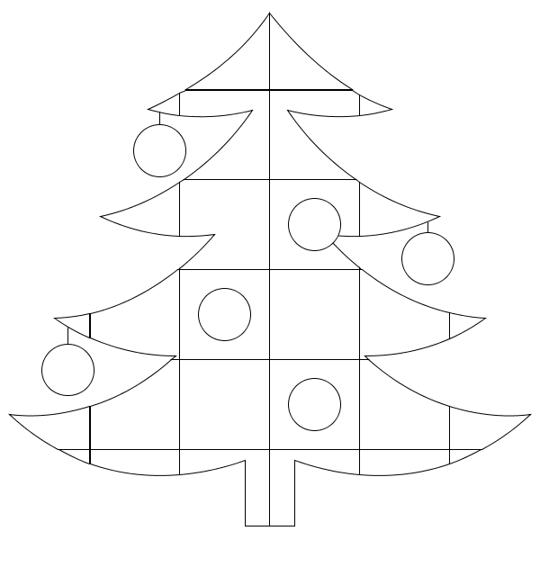 Christmas Tree Quilt Coloring Page