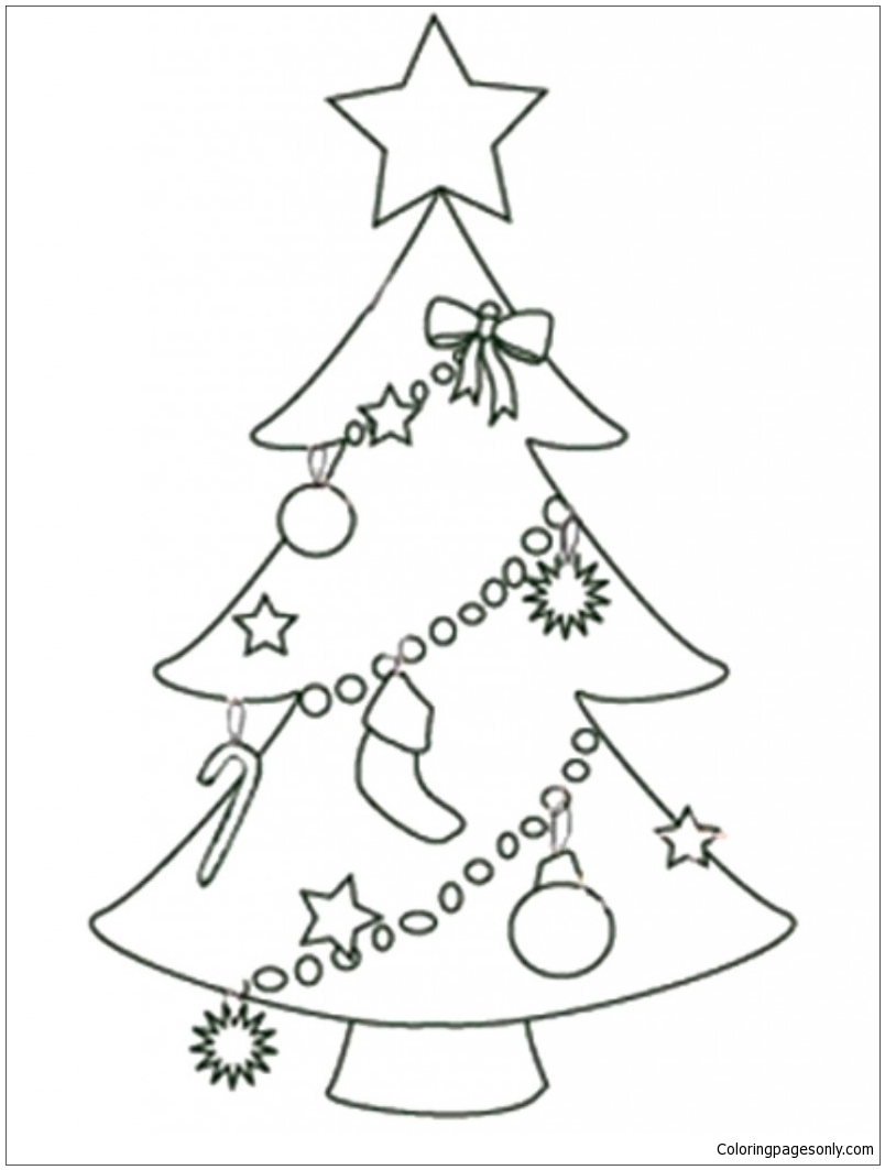 Coloring Ornaments For Christmas Tree. ornaments for christmas ... | 1063x804