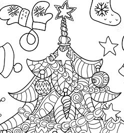 Christmas Tree Zentangle