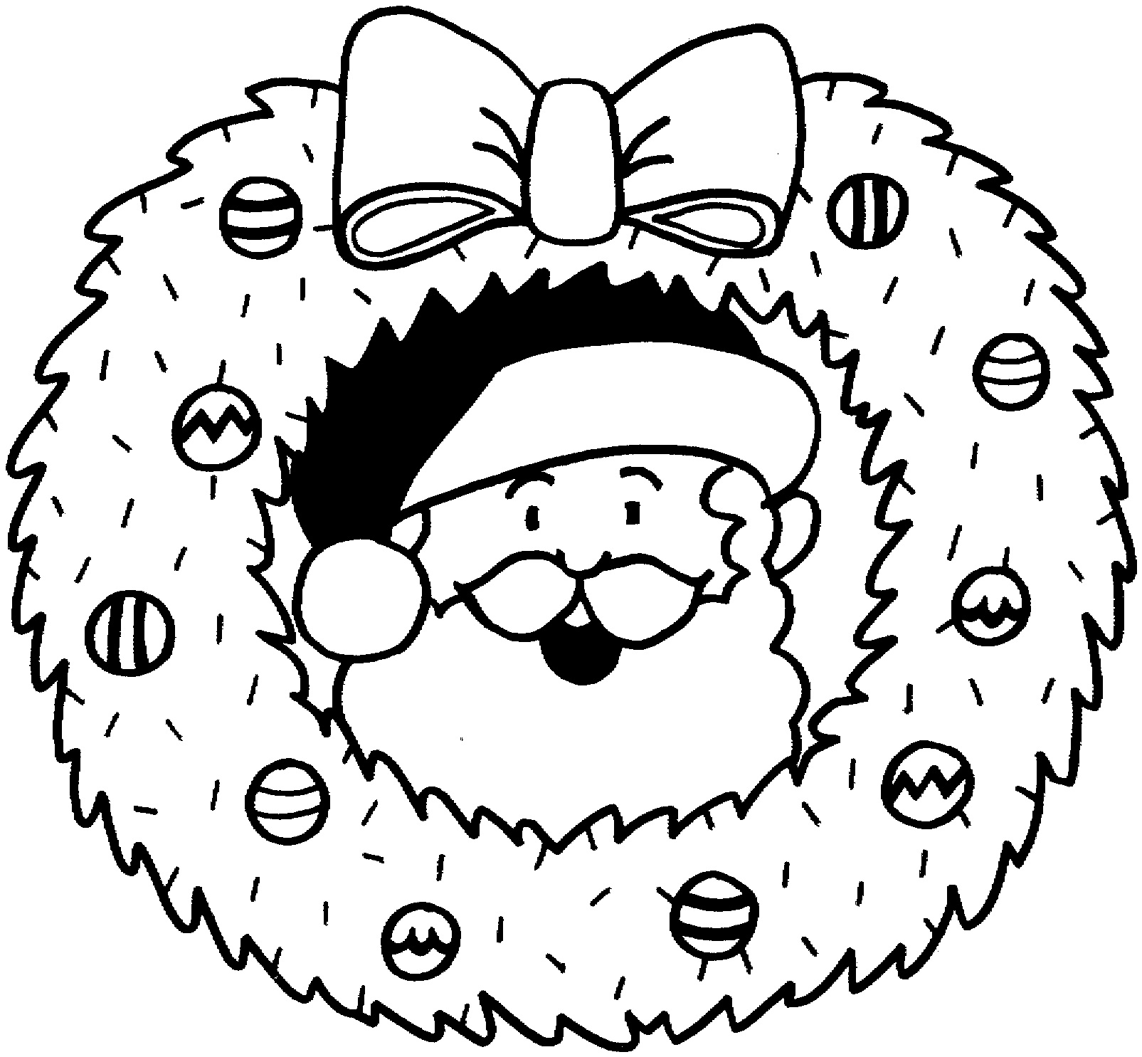 Christmas Wreath Santa Claus