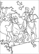 Cinderella And Prince Are Riding Horse Together  from Cinderella