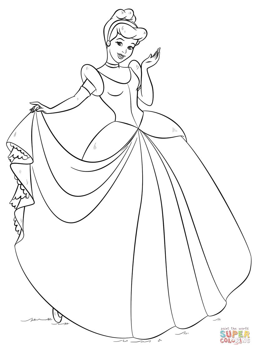 Cinderella From Cinderella Coloring Page