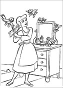 Cinderella Combs Her Hair  from Cinderella Coloring Page