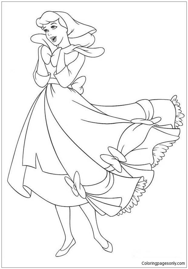 Cinderella Disney Coloring Page