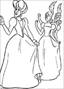 Cinderella's Stepmother And Sisters  from Cinderella Coloring Page