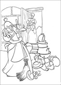 Cinderella's Sister Broke A Lot Of Items  from Cinderella Coloring Page