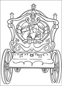 Cinderella's Wedding Cart  from Cinderella Coloring Page