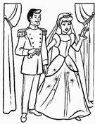 Cinderella's Wedding Party  from Cinderella Coloring Page