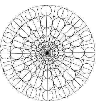 Circles and round forms mandala