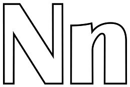 Classic Letter N