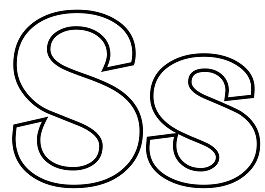 Classic Letter S Coloring Page