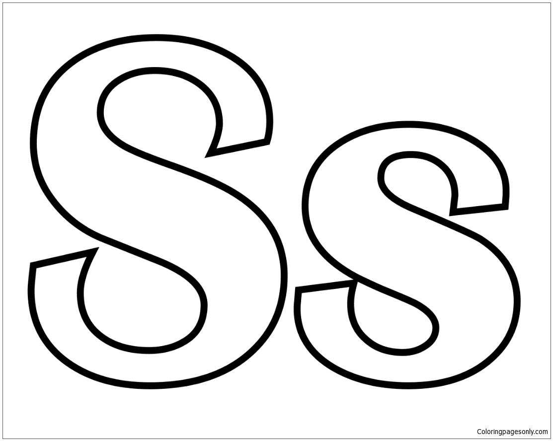 Classic Letter S Coloring Pages Alphabet Coloring Pages Free Printable Coloring Pages Online