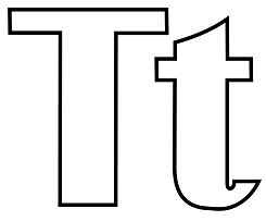 Classic Letter T Coloring Page