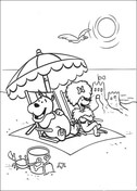 Cleo And Friends At The Beach Coloring Page