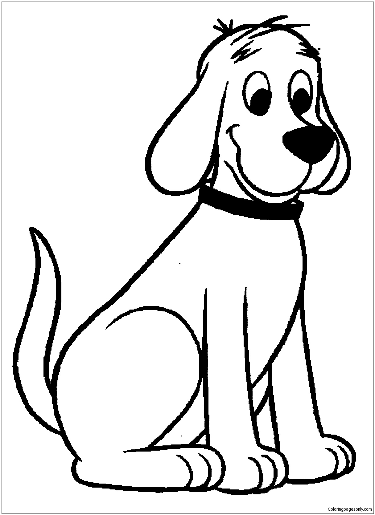 Clifford The Big Red Dog Coloring Page Free Coloring