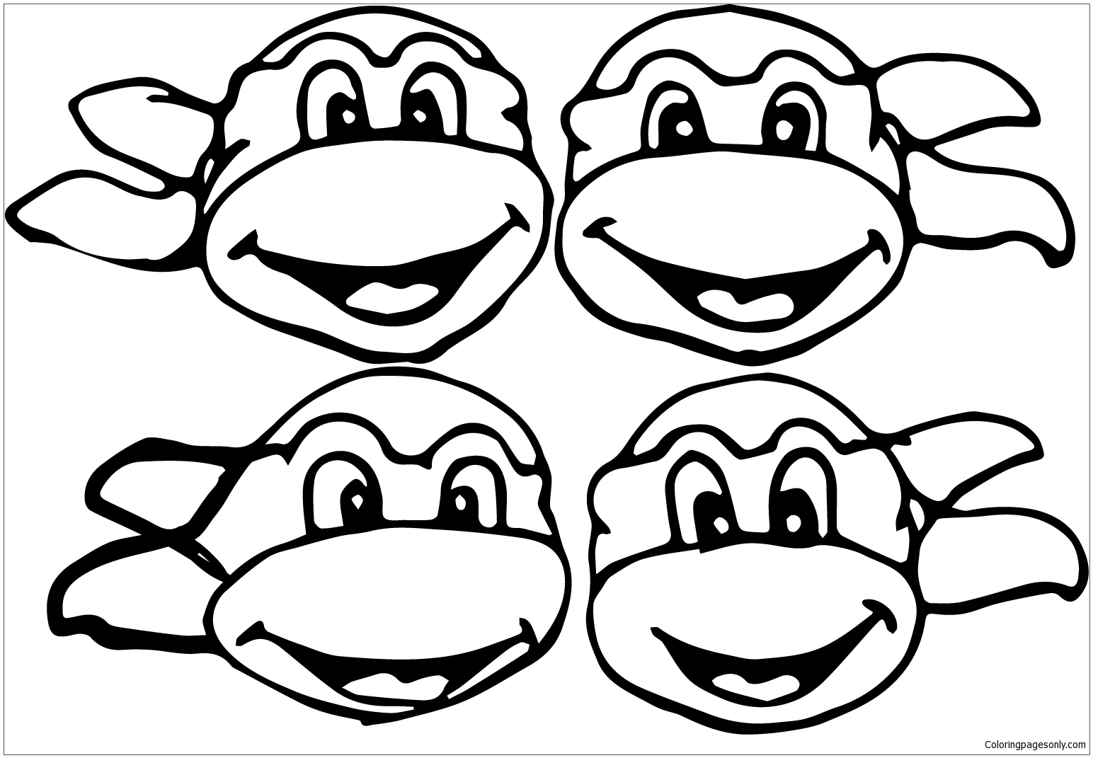 - Clipart Turtle Coloring Page - Free Coloring Pages Online