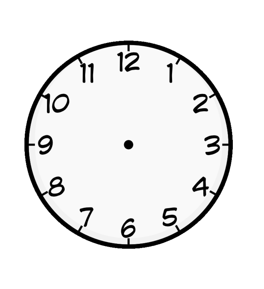 Clock Face Coloring Page