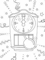 Clock Striking Midnight New Year